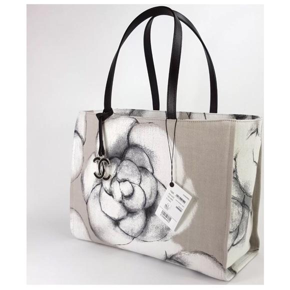 CHANEL Handbags - Authentic CHANEL New Camilla Canvas Tote